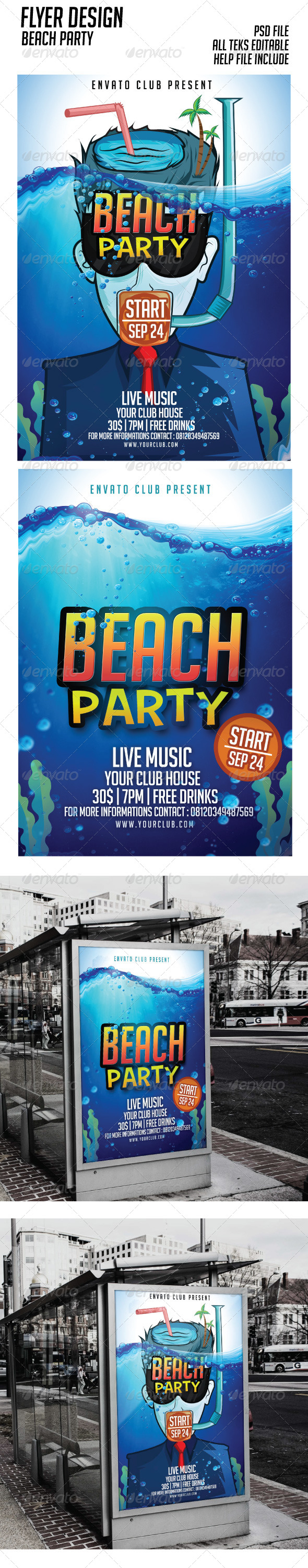 Beach Party Flyer Events - Events Flyers