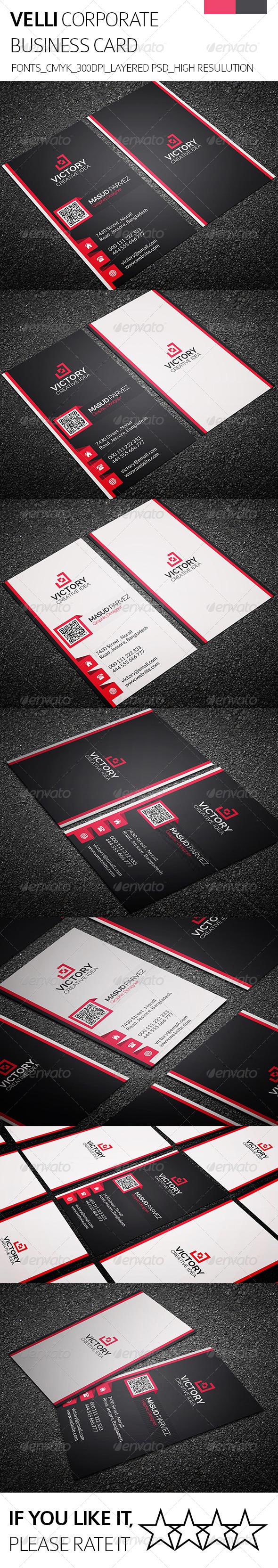 Velli & Corporate Business Card - Corporate Business Cards