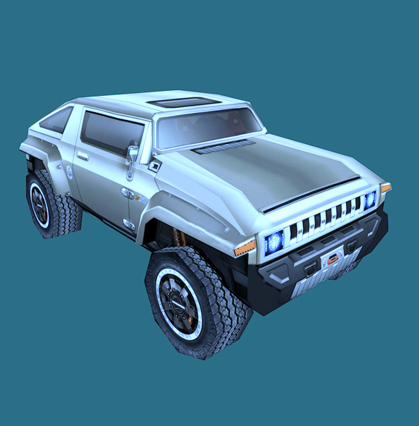 Low Poly Hummer HX Model - 3DOcean Item for Sale