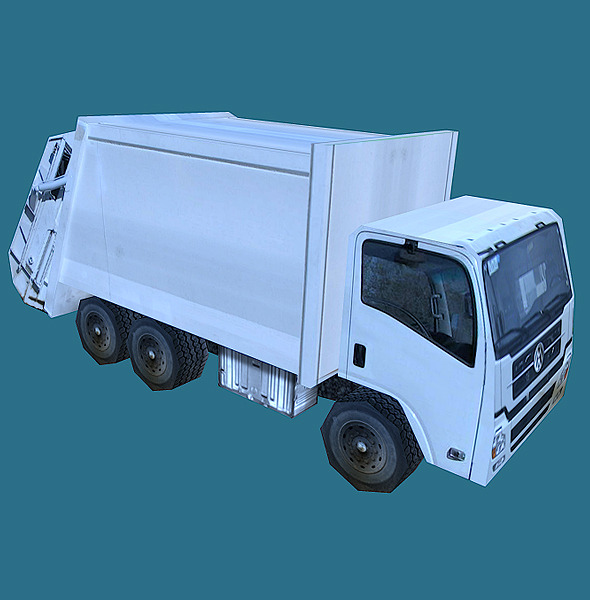 Low Poly Garbage Truck Model - 3DOcean Item for Sale