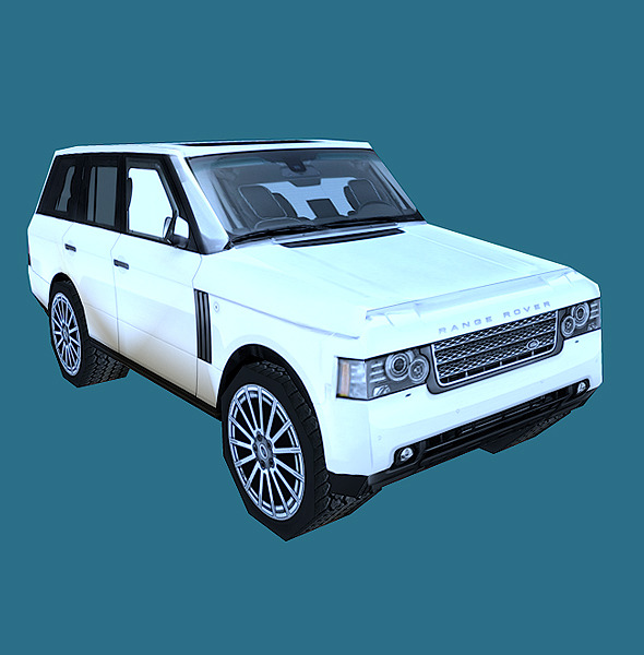 Low Poly Range Rover Model - 3DOcean Item for Sale