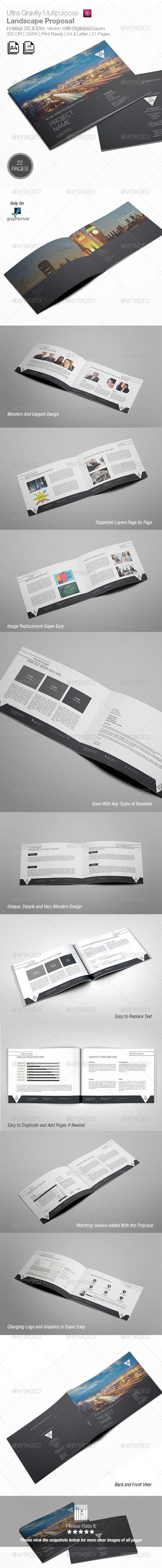 Ultra Gravity Multipurpose Landscape Proposal - Proposals & Invoices Stationery