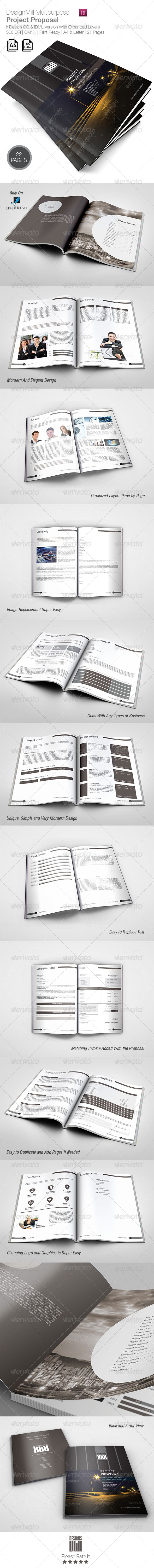 DesignsMill Multipurpose Proposal - Proposals & Invoices Stationery