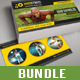 3 in 1 Sport Activity Business Card Bundle 01 - GraphicRiver Item for Sale