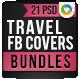 Travel Facebook Cover Bundle - 4 Designs - GraphicRiver Item for Sale