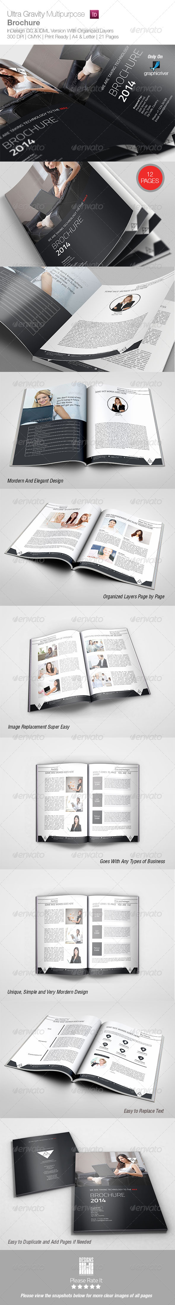 Ultra Gravity Multipurpose Brochure - Corporate Brochures
