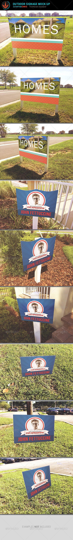 Outdoor Signage Mock Up Template - Signage Print