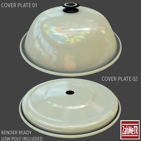Cover Plates 1 - 2 Low / High Polygons - 3DOcean Item for Sale