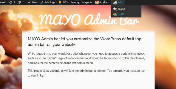 Mayo Admin Bar - CodeCanyon Item for Sale