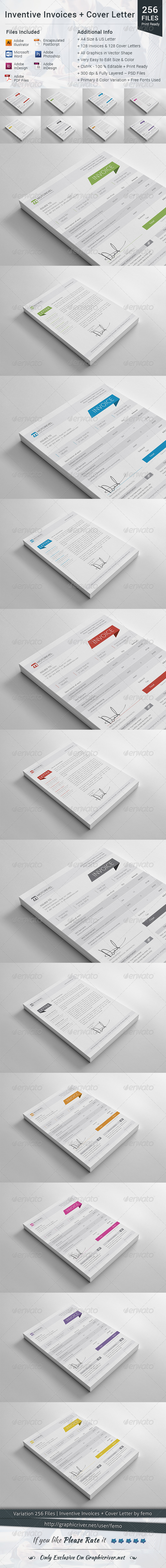 Inventive Invoices + Cover Letter - Proposals & Invoices Stationery