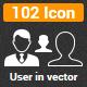 102 User Vector Icon - GraphicRiver Item for Sale