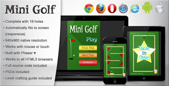 Mini Golf - HTML5 Game - CodeCanyon Item for Sale