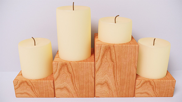 Candle (VrayC4D) - 3DOcean Item for Sale