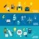 Set of Line Banner Energy Generation - GraphicRiver Item for Sale