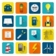 Electricity Energy Icons Set - GraphicRiver Item for Sale