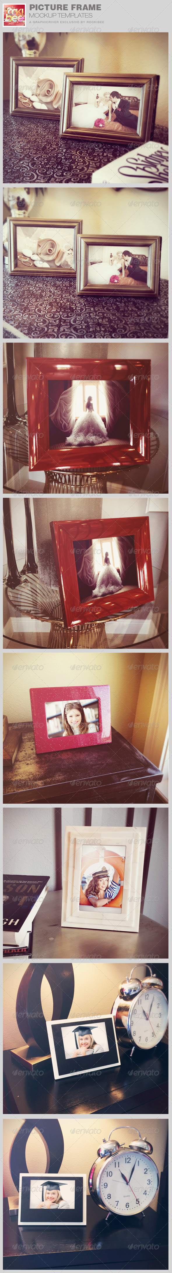 Picture Frame Mockup Templates - Photo Templates Graphics