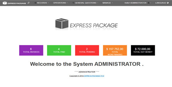 Shipping Express Packages / Invoicing System Of Sh - CodeCanyon Item for Sale