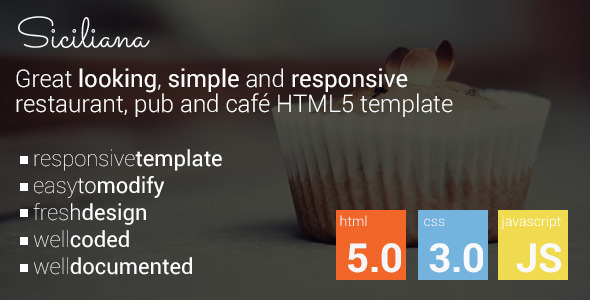 Siciliana – restaurant & coffee html5 template