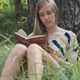 Girl Reading a Book in The Forest 3 - VideoHive Item for Sale