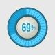 Ring Loading Progress Bar on Light Background - GraphicRiver Item for Sale