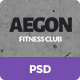 Aegon Fitness Club - One Page Fitness PSD Theme - ThemeForest Item for Sale