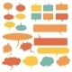 Set of Flat Comic Talk and Think Bubbles - GraphicRiver Item for Sale