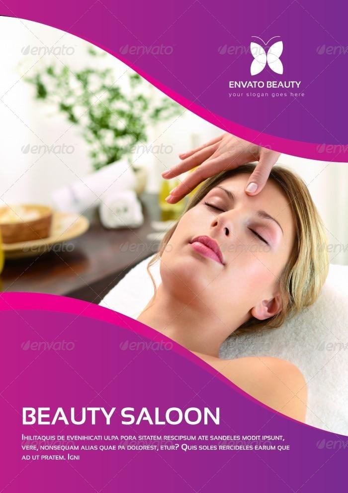 Beauty Salon Brochure Template By Carlosfernando GraphicRiver - Salon brochure templates