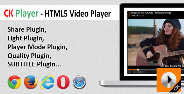 CK Player - HTML5 Video Player - CodeCanyon Item for Sale