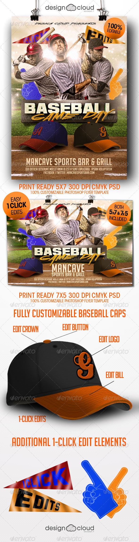 Baseball Game Day Flyer Templates - Sports Events