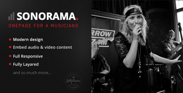 Sonorama - Onepage Music Template - Music and Bands Entertainment