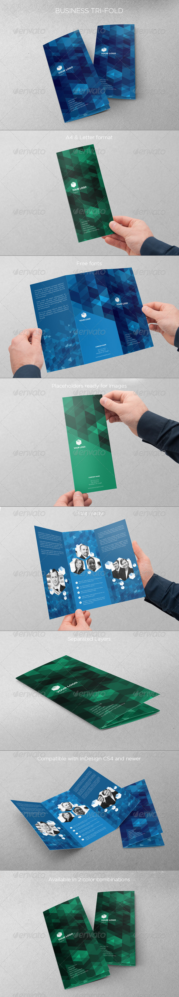 Business Tri-fold - Brochures Print Templates
