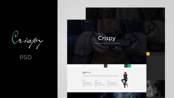 Crispy | One Page PSD - Corporate PSD Templates