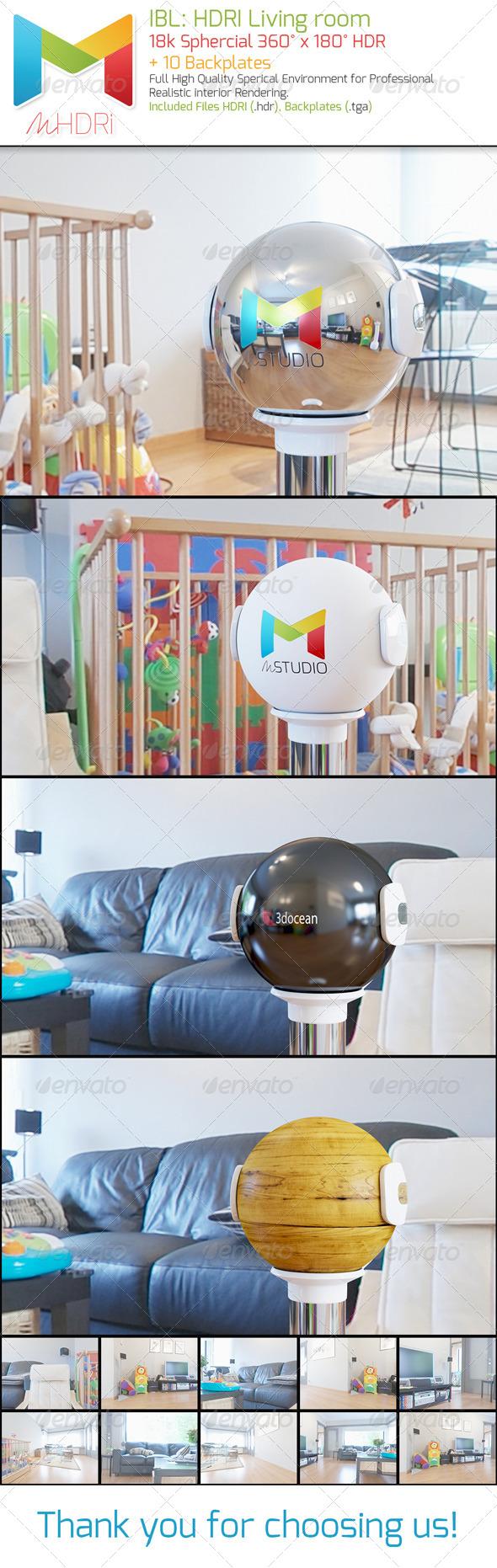 IBL: HDRI Living room - 3DOcean Item for Sale