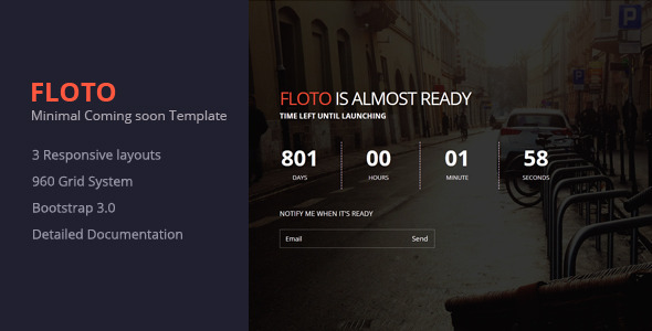 Floto- Responsive Under Construction Template
