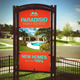 Vertical Outdoor Signage Mockup Template - GraphicRiver Item for Sale