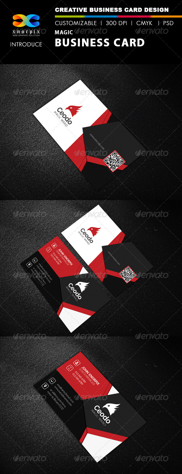 Magic business card by axnorpix graphicriver magic business card corporate business cards colourmoves Gallery