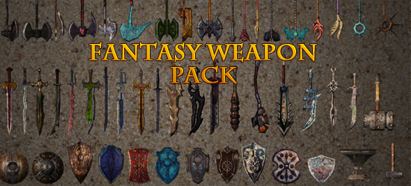 AT1 Fantasy Weapon Pack for RPG - 3DOcean Item for Sale