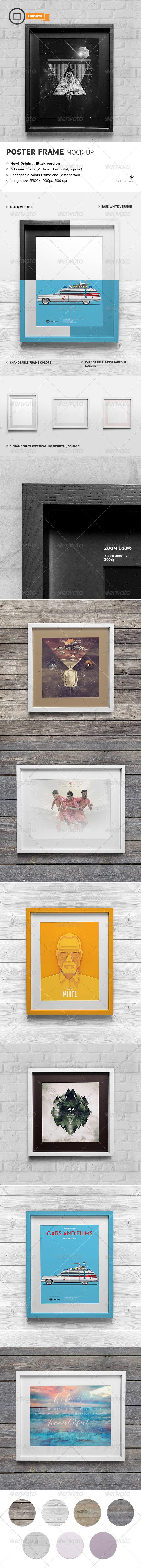 Poster Frame Mock-Up - Print Product Mock-Ups