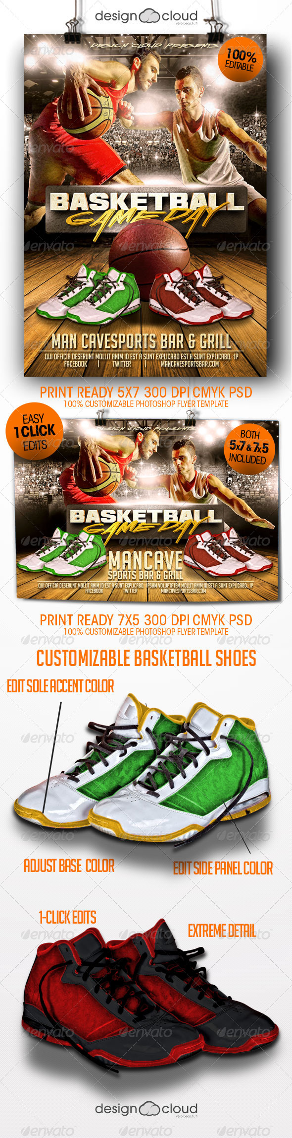Basketball Game Day Flyer Templates - Sports Events