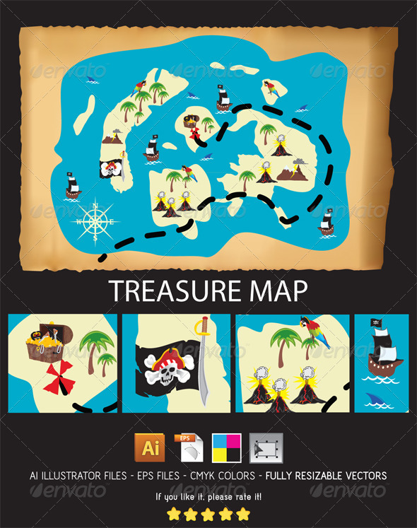 Treasure Map - Conceptual Vectors
