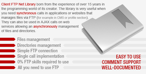 Client FTP Net Library - CodeCanyon Item for Sale