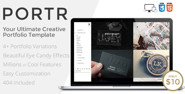 PORTR – Ultimate Creative Portfolio Template