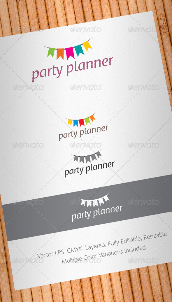party planner logo template by floringheorghe graphicriver