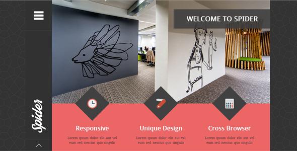 Spider - Flat Creative  Portfolio HTML Template
