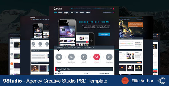9studio | Creative Unique PSD Theme - Portfolio Creative