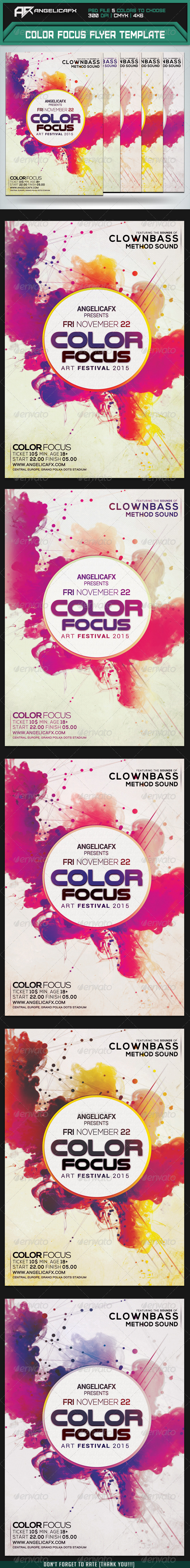 Color Focus Flyer Template - Clubs & Parties Events