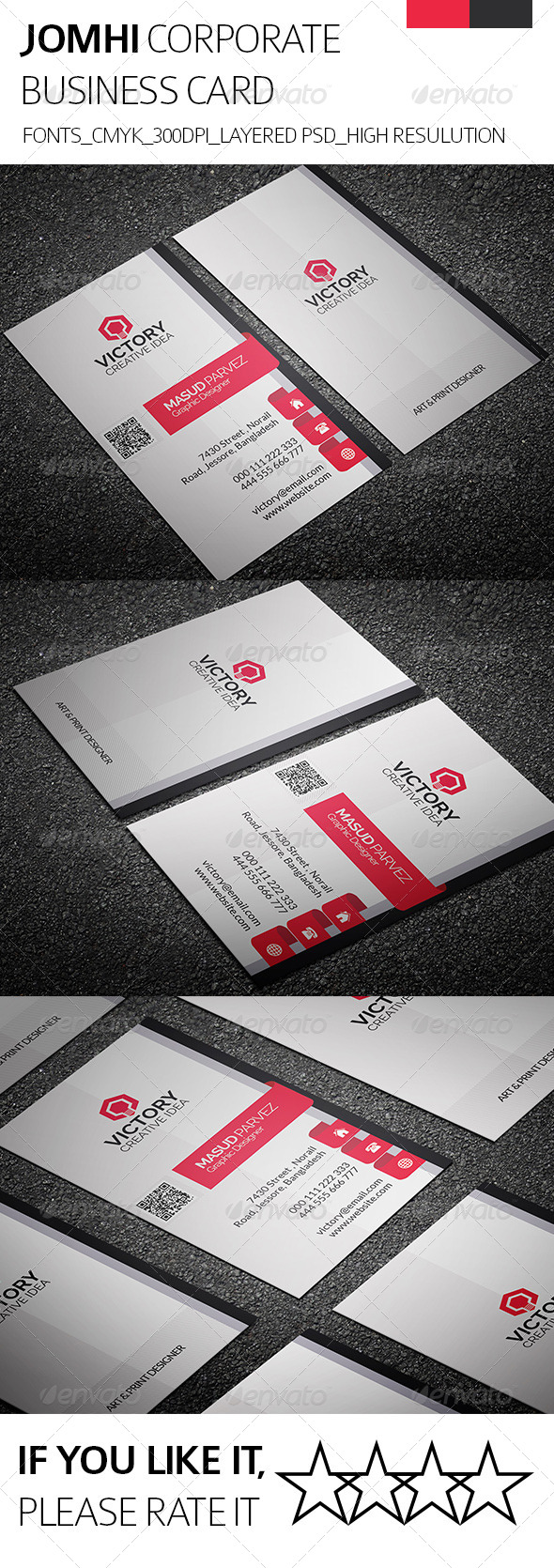 Jomhi & Corporate Business Card - Corporate Business Cards