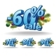 Blue Inscription Percentage - GraphicRiver Item for Sale