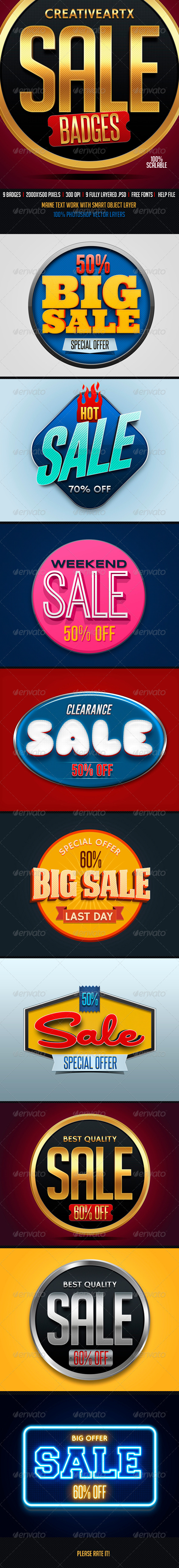 Sale Badges 2 - Badges & Stickers Web Elements