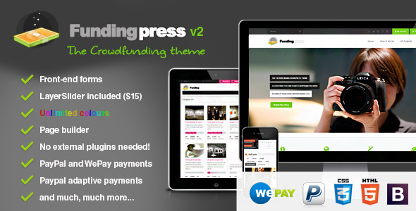 Fundingpress – The Crowdfunding WordPress Theme